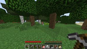 Обычный мир minecraft без текстур с разрешением 64x64