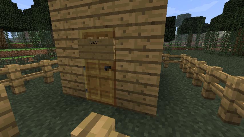 забор майнкрафт,, туалет, minecraft