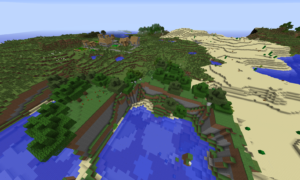 [Майнкрафт 1.7.10] Сид на деревню на спавне! Красивый мир.